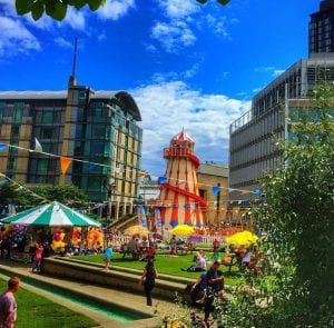 Sheffield city centre fair event